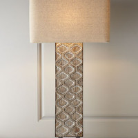 Regina-Andrew Design Carved Panel Table Lamp