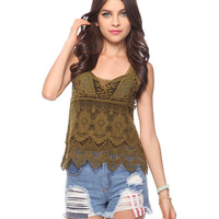 Open Crochet Top | FOREVER21 - 2000034598