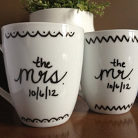 Personalized Coffee Mugs, Mr. & Mrs.