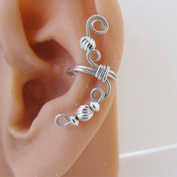 Sterling Ear Cuff Wrap Cartilage Non Pierced by RazzleDazzleMe