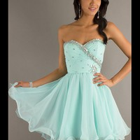 WowDresses — Sweet Light Sky Blue Sweetheart Mini Prom Dress
