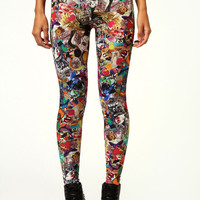 Cora Cartoon Print Leggings