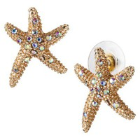 Starfish Stud Earrings - Gold