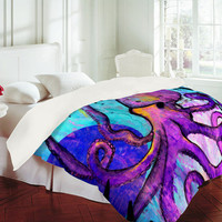 DENY Designs Home Accessories | Sophia Buddenhagen Purple Octopus Duvet Cover