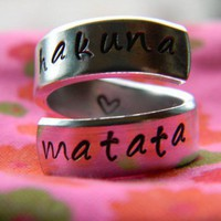 The original Hakuna Matata Version I Aluminum swirl ring