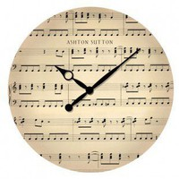 Ashton Sutton Music Note Wall Clock - ASC3121