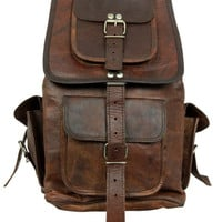 Leather Backpack Messenger Bag  Handmade Soft by creativeleather