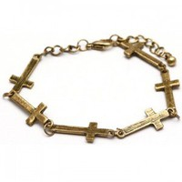 Vintage Cross Bracelet