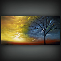 painting art abstract art original abstract painting art original abstract painting tree painting acrylic painting 48 x 24