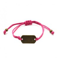 Live Love Laugh Bracelet in Pink