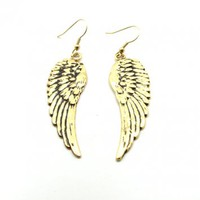 Vintage Wing Dangle Earrings