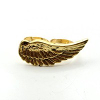 Vintage Angel Wing Double Finger Ring