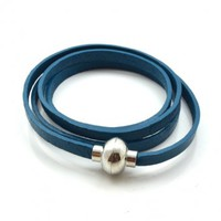Layered Bracelet In Petrol Blue