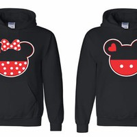 Couple Matching Hoodies - MICKEY & MINNIE - sweatshirt couple LOVE super cute