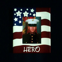 My Hero 5x7 inch Picture Frame, Military, Marine, USMC, Army, Navy, Air Force, Coast Gaurd