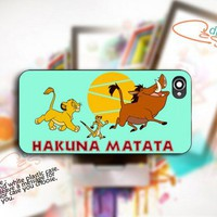 Hakuna Matata Lion King custom - Photo On Hard Cover For iPhone 4,4S