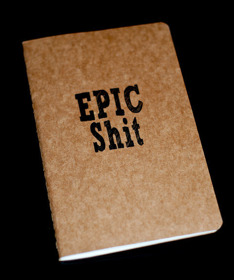 SALE Epic Shit Moleskine Cahier by JulienDenoyer on Etsy