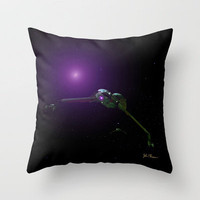 Klingon Birds of Prey Throw Pillow by JT Digital Art 