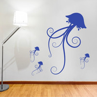 Jellyfish Family Wall Decal Vinyl Wall by singlestonestudios