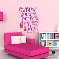 Wall Decals Text Good and Perfect Gift Kids by singlestonestudios