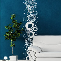 Wall Decals Scribble Circles Pattern Vinyl by singlestonestudios
