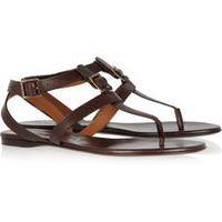 Burberry | Leather T-bar sandals | NET-A-PORTER.COM