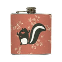 Love Skunk Whiskey Flask with Mini Flowers by LiquidCourage