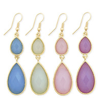 Pastel 2 Piece Teardrop Earring - Unique Vintage - Prom dresses, retro dresses, retro swimsuits.
