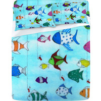 DENY Designs Home Accessories | Rosie Brown Tropical Fishing Sheet Set