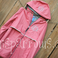 Monogrammed Rain Coat by MiniSparrows on Etsy