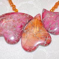 Heart Jasper Choker Necklace