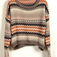 BlueBand — Tribal Print Vintage Loose Sweater