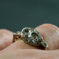 Unusual Art Deco Diamond Engagement Ring by Ruby Gray&#x27;s | Ruby Gray&#x27;s