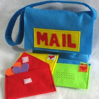Mail Bag and Working Envelopes for Pretend Play, Custom Order, Choose Your Colors