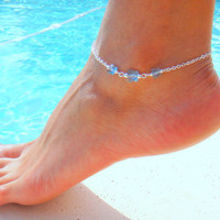 Butterfly Crystal Anklet by DeliBejeweled on Etsy