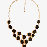 Lacquered Beehive Bib Necklace