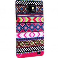 FOR SAMSUNG GALAXY S2 S II i9100 AZTEC DARK TRIBAL RETRO VINTAGE HARD CASE COVER