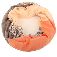 Solid Color and Striped Infinity Circle Scarf Shawl Wrap