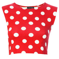 Spot Stretch Crop Tee - The Eclectic Londoners - We Love - Topshop USA