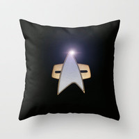 Star Trek communicator Throw Pillow by JT Digital Art