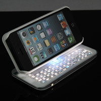Cool New Gernaration Cool Sliding Bluetooth Keyboard Case For Iphone 4/4s/5