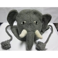 Woolen Winter Animal Hats Elephant