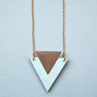 Mint Triangle Necklace By Rachel Loves Bob