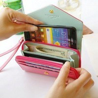 Bestgoods — Cool Mobile phone bag purse change purse Wallet With Card Pocket