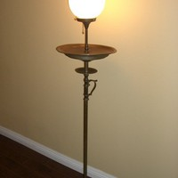 Antique Vintage Floor Lamp Brass original code Works Fine 1930s - 1940s $250+