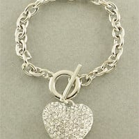 Silver Heart Bracelet from p.s. I Love You More Boutique