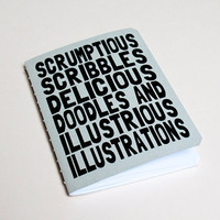 Handmade notebook Scrumptious scribbles by purplecactusdesign