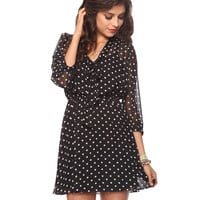 Self-Tie Polka Dot Dress | FOREVER21 - 2011409177
