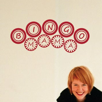 Wall Decal Bingo Mama Wall Sign Sticker