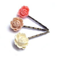 Flower Hair pins JPwithLove